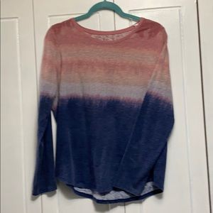 Sonoma long sleeve ombré style long sleeve tee L